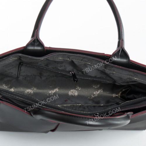 Жіноча сумка 096 black-red
