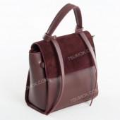 Жіноча сумка 037 big bordo-zamsha