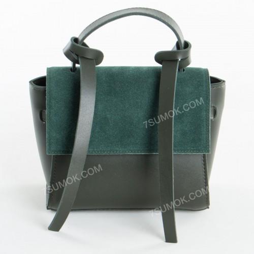 Клатч 037 mini green-zamsha