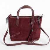 Жіноча сумка 112 bordo-zamsha