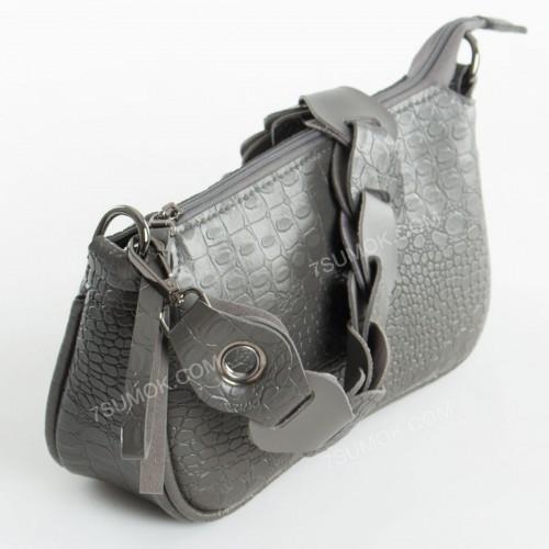 Клатч 093 gray-crocodile