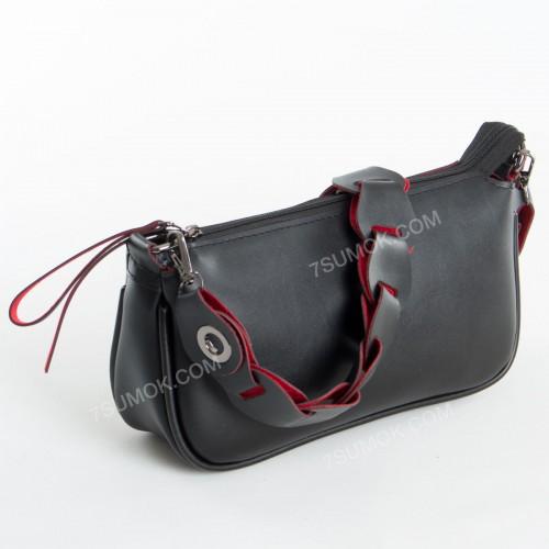 Клатч 093 black-red