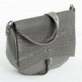 Клатч 086 gray-crocodile-kombi