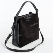Жіноча сумка 067 black-zamsha