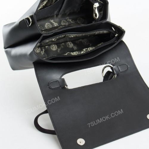 Клатч 075 black-crocodile-kombi