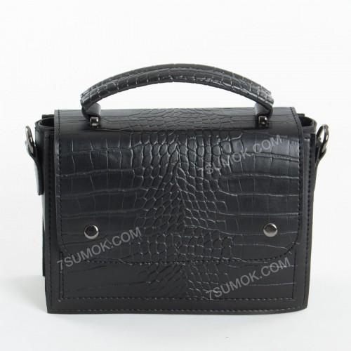 Клатч 092 black-crocodile
