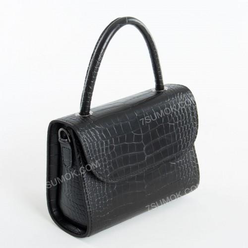 Клатч 088 black-crocodile