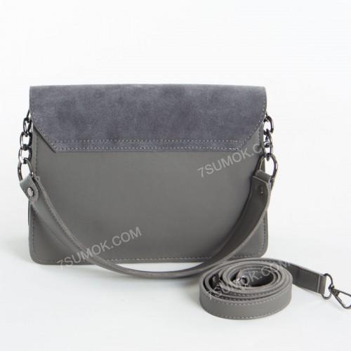 Клатч 089 gray-zamsha