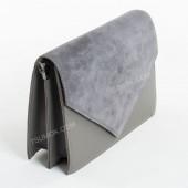 Клатч 042 gray-zamsha