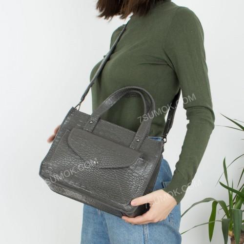 Жіноча сумка 064 white-crocodile