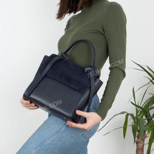 Жіноча сумка 037 big blue-zamsha