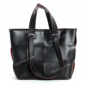 Жіноча сумка 106 black-red-pletenka