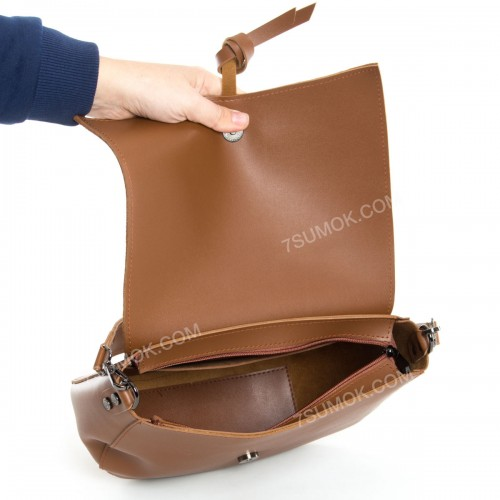 Клатч 086 brown-zamsha