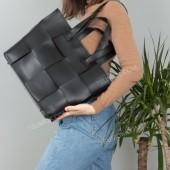 Жіноча сумка 106 black-pletenka
