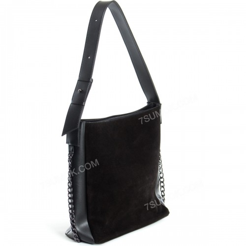 Жіноча сумка 103 black-zamsha