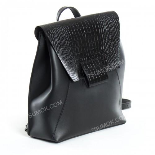 Жіночий рюкзак R025 black-crocodile-kombi