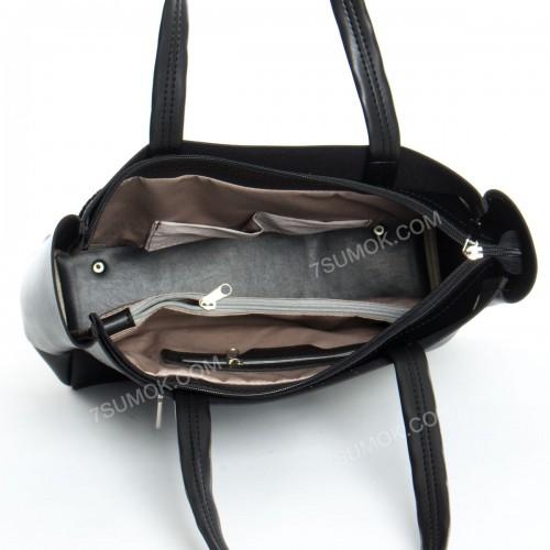 Жіноча сумка 2-2300060 black-crocodile-kombi