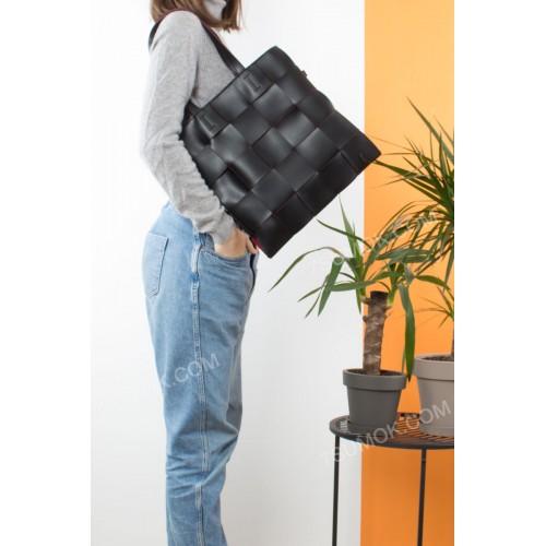 Жіноча сумка 104 black-red
