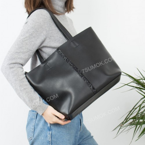 Жіноча сумка 2-0300490 black-sneg