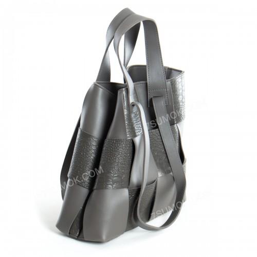 Жіноча сумка 106 gray-crocodile-kombi