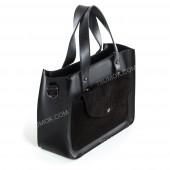 Жіноча сумка 064 black-zamsha