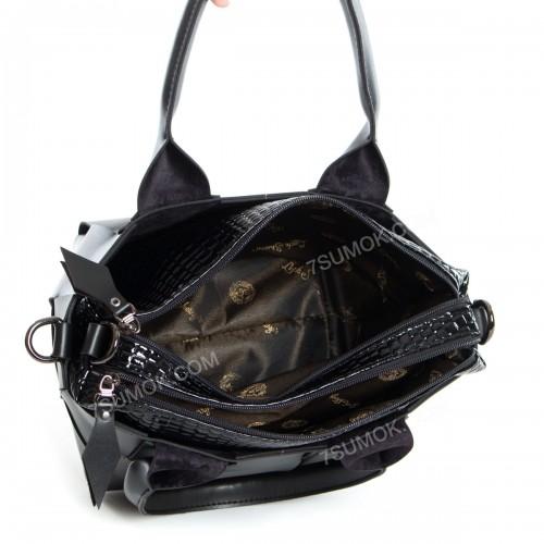 Жіноча сумка 107 black-lak