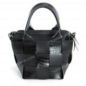 Жіноча сумка 107 black-crocodile-kombi