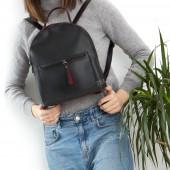 Жіночий рюкзак R021 black-red