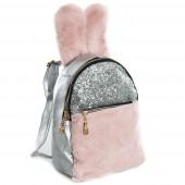 Дитячий рюкзак NW1030 silver-pink