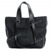 Жіноча сумка 106 black-zerno-pletenka