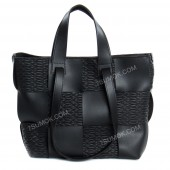 Жіноча сумка 106 black-zerno-kombi-pletenka