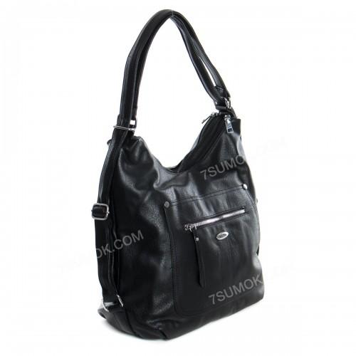Жіноча сумка-рюкзак 538 black