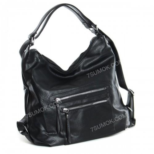 Жіноча сумка-рюкзак 535 black