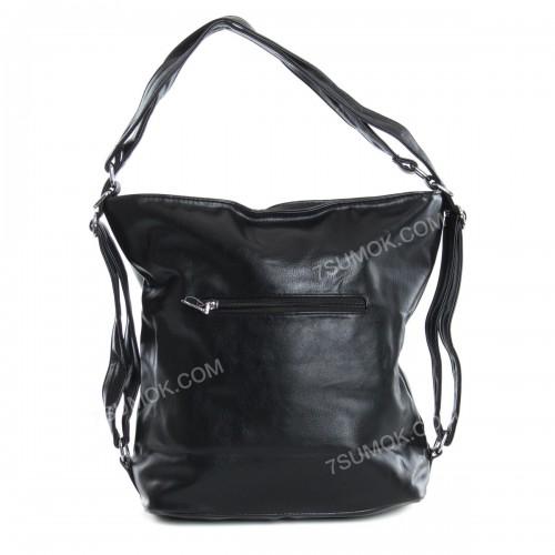 Жіноча сумка-рюкзак A-002 black