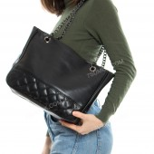 Жіноча сумка 08-20 black-romb-kombi