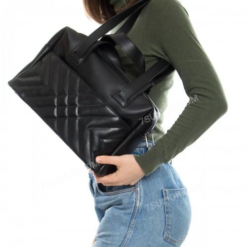 Жіноча сумка 116 black-romb