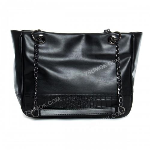 Жіноча сумка 08-20 black-crocodile-kombi