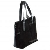 Жіноча сумка 094 black-zamsha