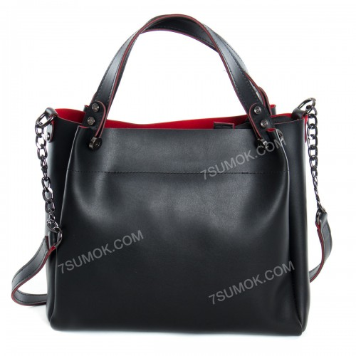 Жіноча сумка 084E black-red
