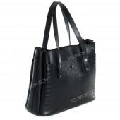 Жіноча сумка 115 black-crocodile-kombi