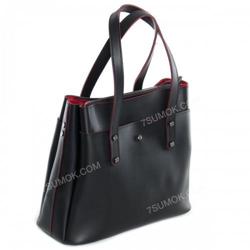 Жіноча сумка 115 black-red