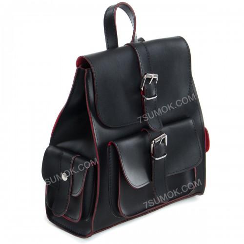 Жіночий рюкзак R011 black-red