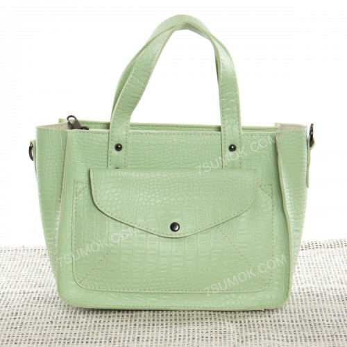 Жіноча сумка 064 light green-crocodile