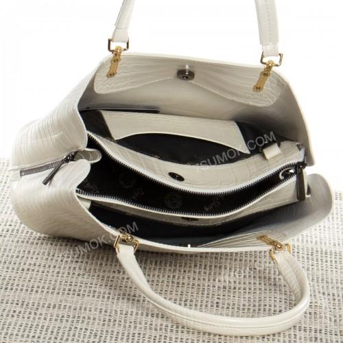 Жіноча сумка 010M milk-crocodile