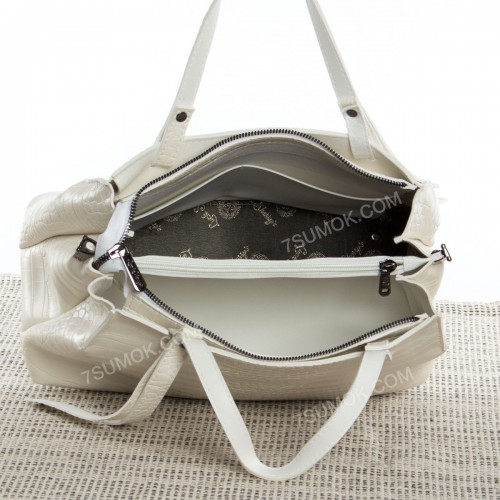 Жіноча сумка 039 milk-crocodile