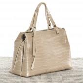 Жіноча сумка 039 beige-crocodile