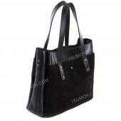 Жіноча сумка 115 black-zamsha