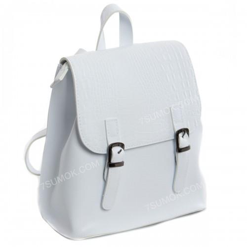 Жіночий рюкзак R013 mini white-crocodile-kombi