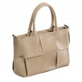 Жіноча сумка 096 light bison-crocodile-kombi