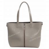 Жіноча сумка 100 light gray-crocodile